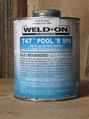 Weld-On® 747™ POOL 'R SPA™ BLUE (1 Liter)
